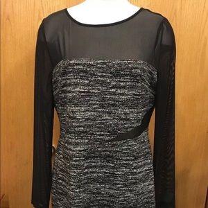 Vince Camuto Gray & Black Dress size: 14